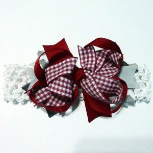 NEW Infant Newborn Headband Bow OS